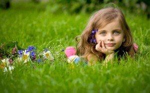 People-Children-Girl-In-Grass-
